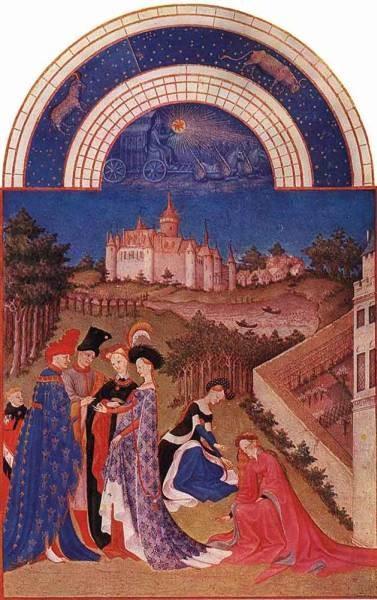 Les Tres Riches Heures Du Duc De Berry Avril